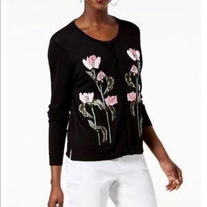 Embellished floral cardigan INC designed for Macys